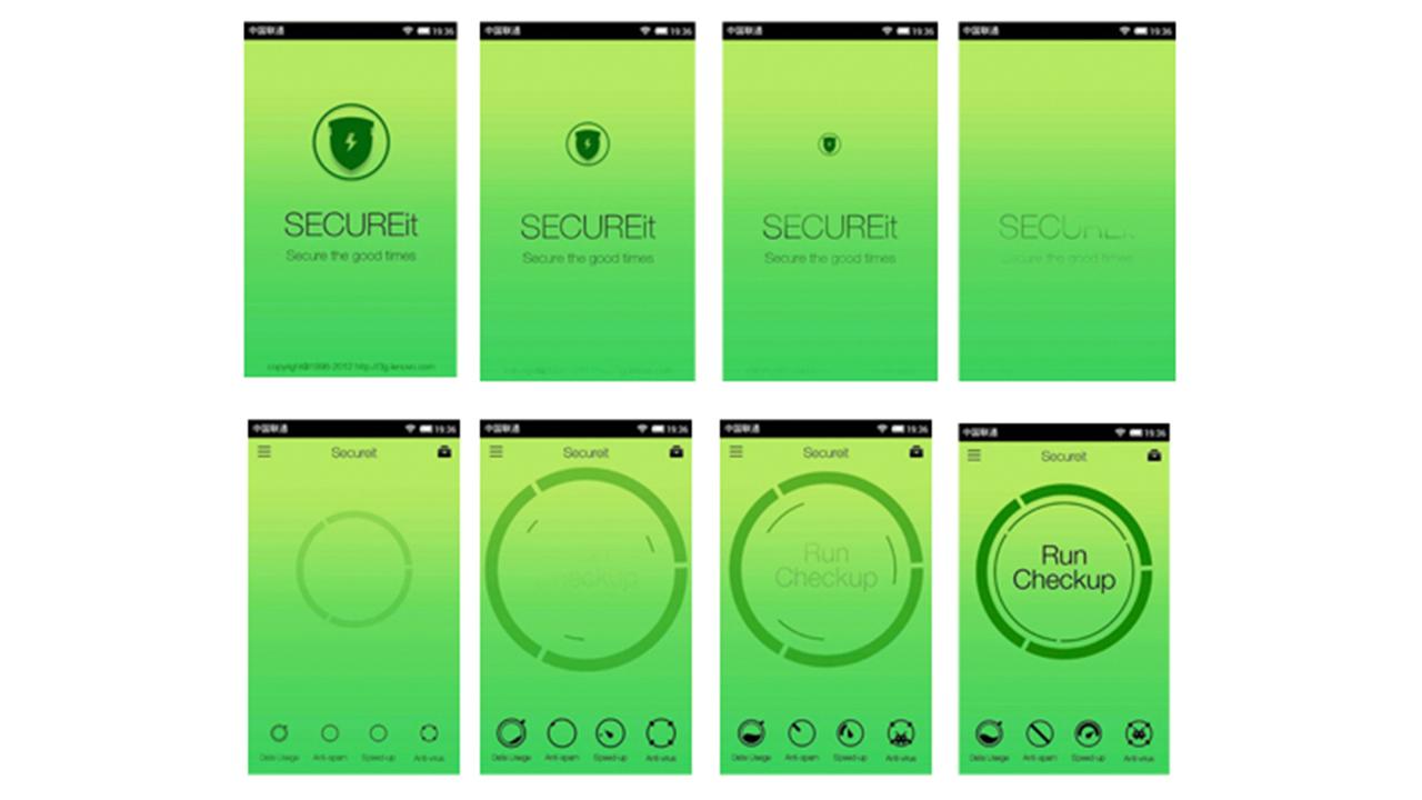 Lenovo LeSECUREit Application Interface Motion Design