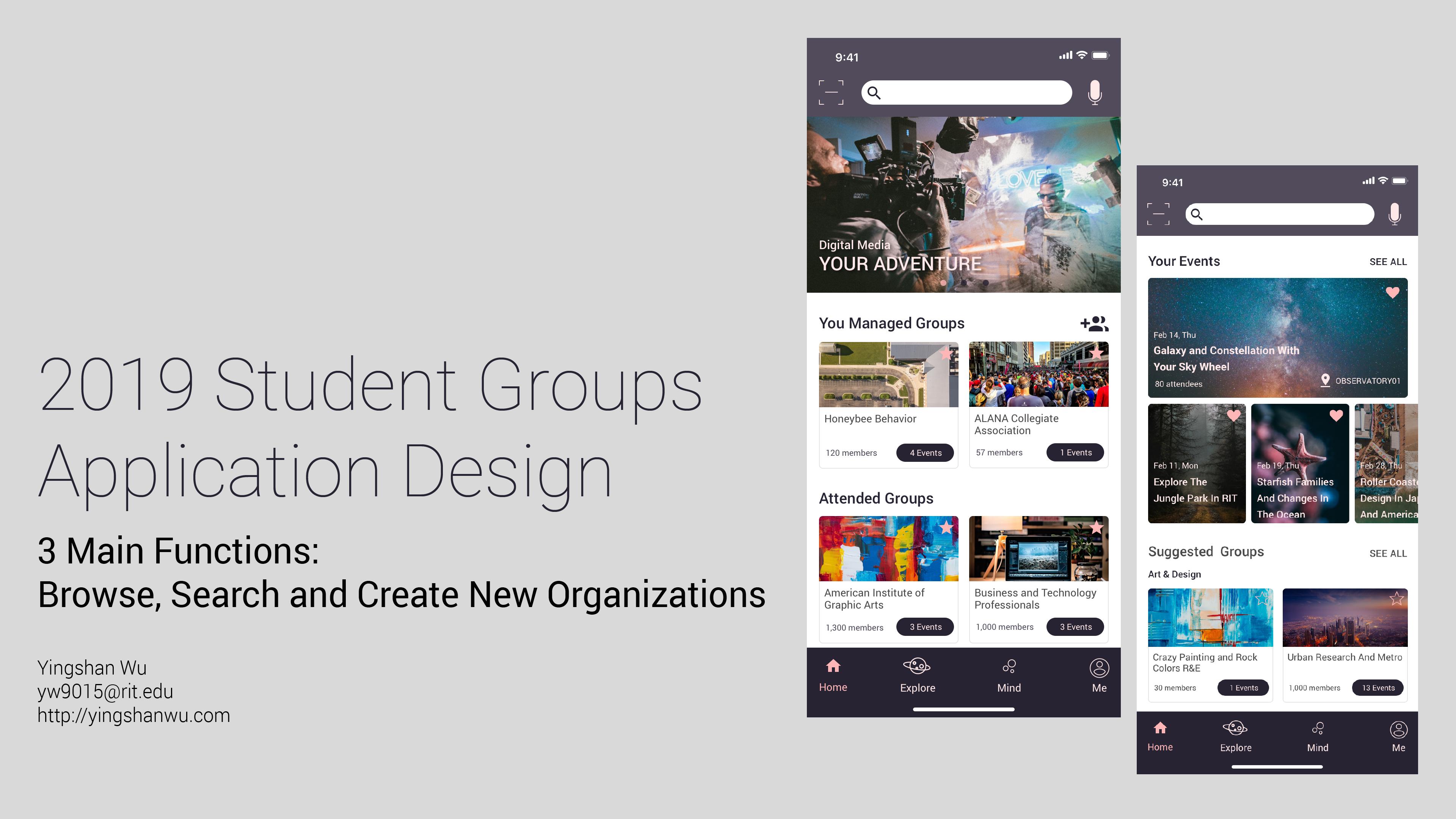 Student Groups App Design