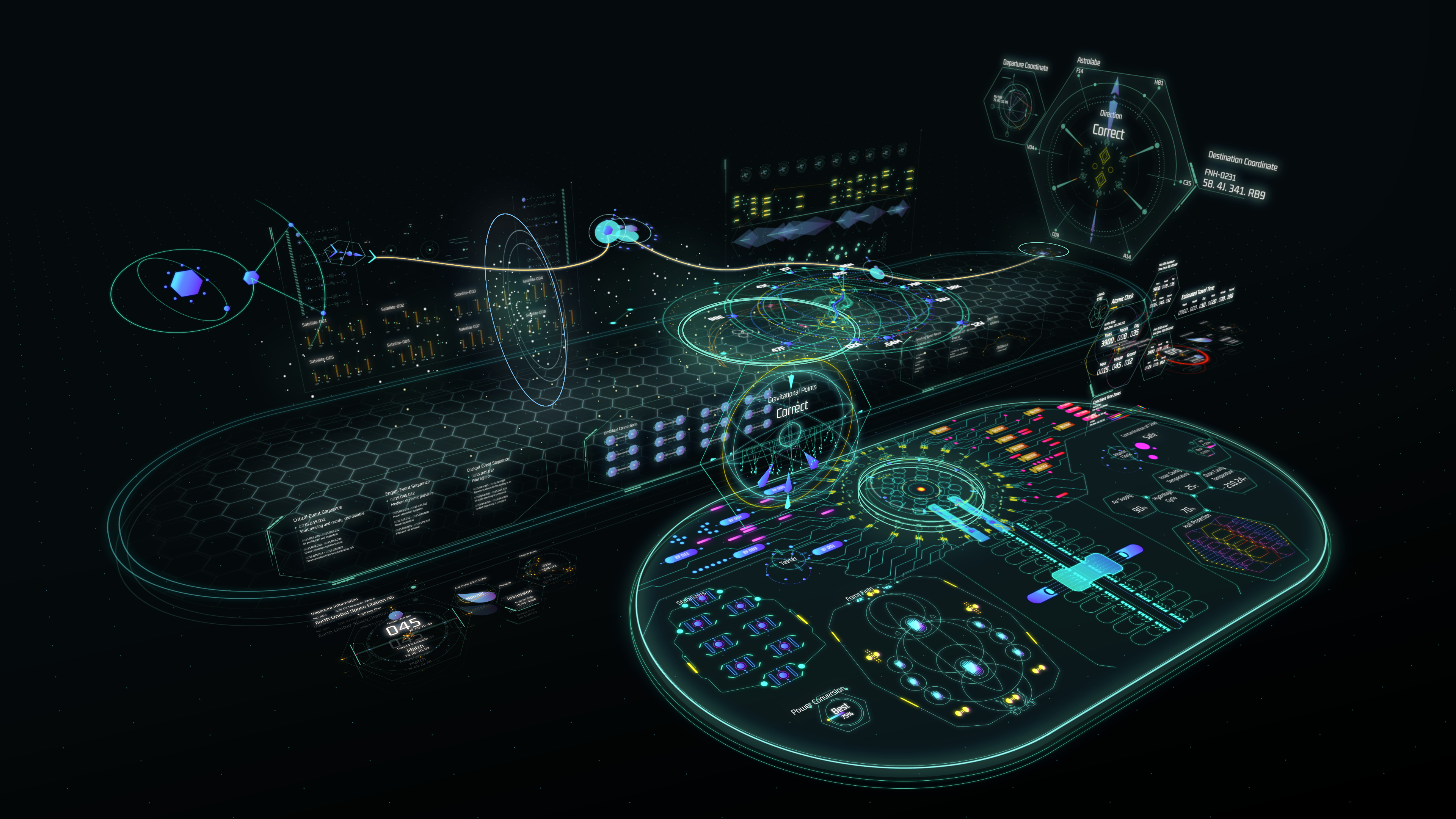 Thesis Project | Sci-fi UI Design Interstellar Map for Space Travel